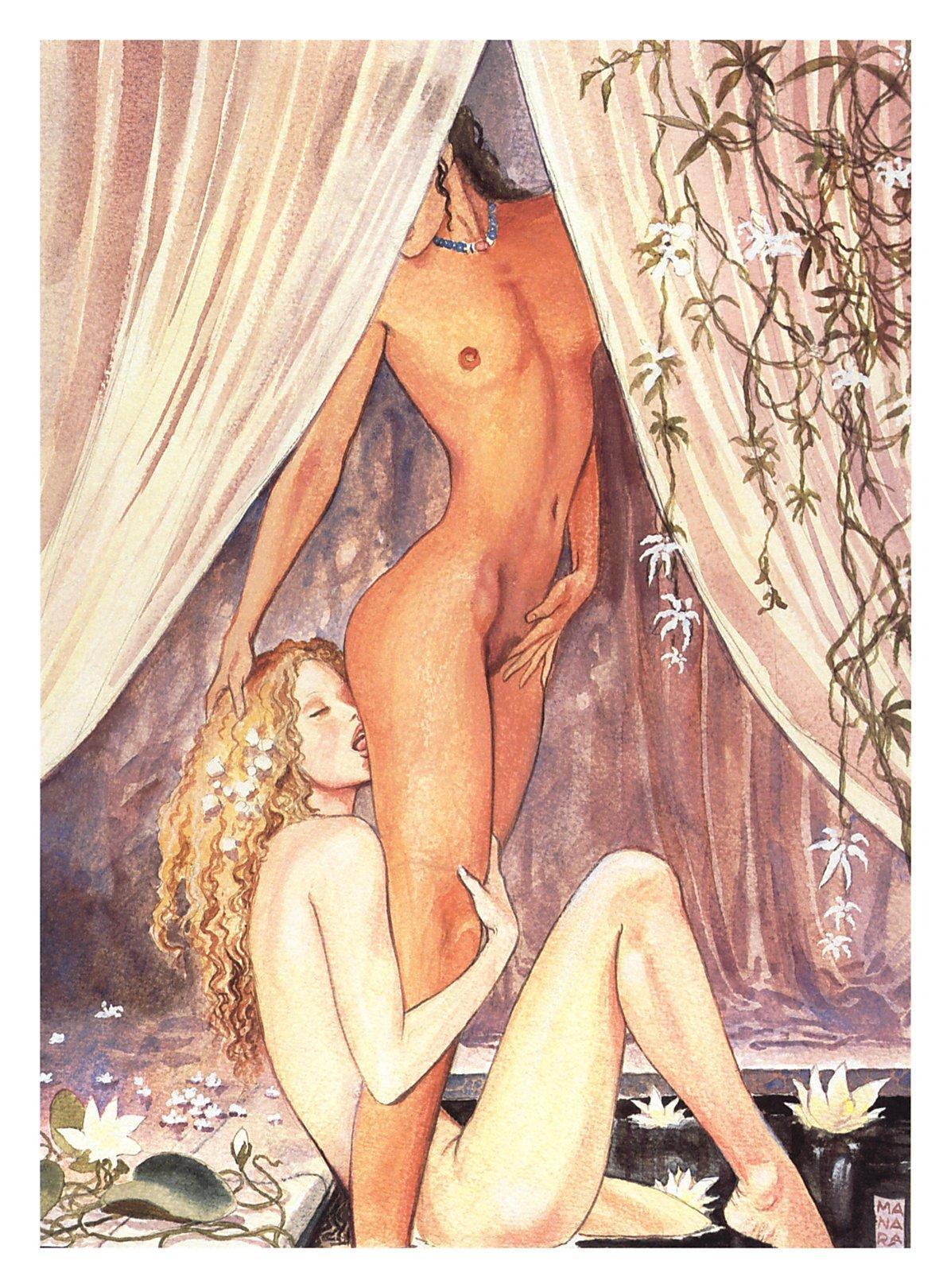 Рисованная эротика галерея 26 фотография